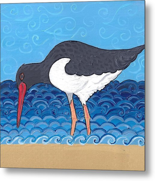 Beach Bird 4 Metal Print