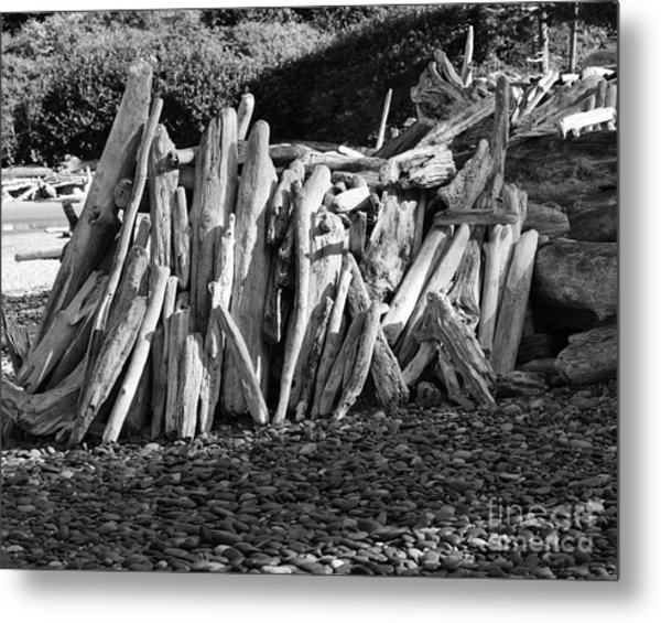 Beach Fort 2 Metal Print