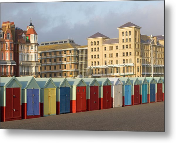 Beach Huts In Brighton Metal Print by Martin Richardson/a.collectionrf