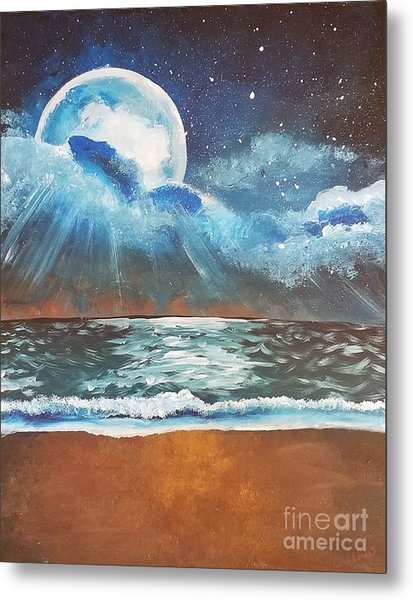 Beach Moon  Metal Print