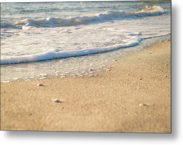 Beach Shorline Metal Print