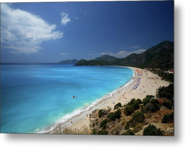 Beach With Polarize Filter Metal Print
