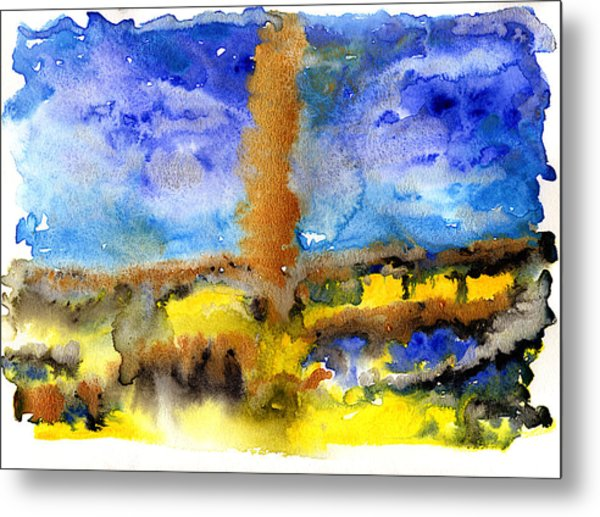 Metal Print featuring the painting Beam Of Light by Bee-Bee Deigner