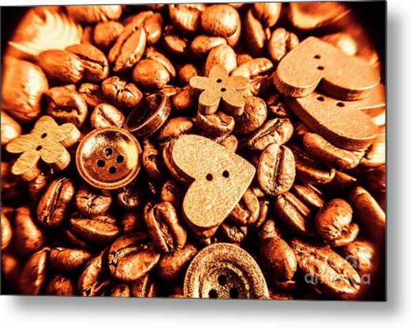 Beans And Buttons Metal Print