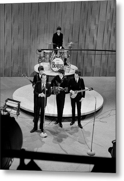 Beatles On Ed Sullivan Show Metal Print by Popperfoto