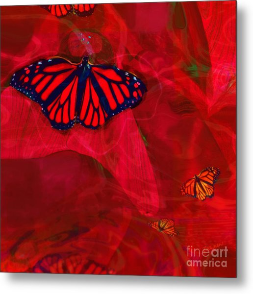 Beautiful And Fragile In Red Metal Print
