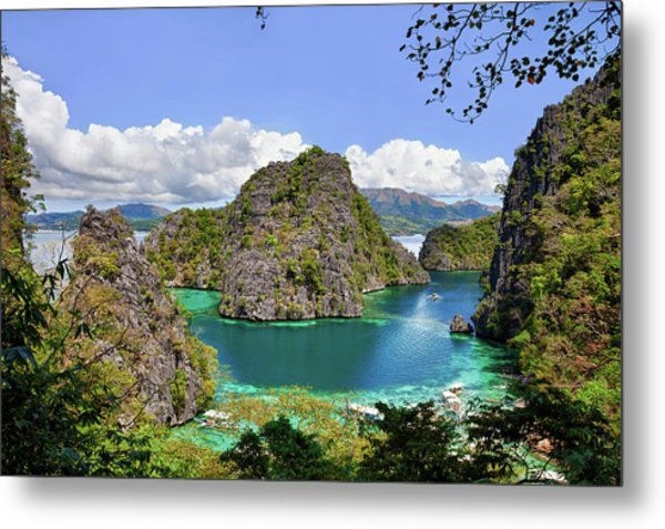 Beautiful Blue Lagoon At Kayangan Lake Metal Print by Fototrav