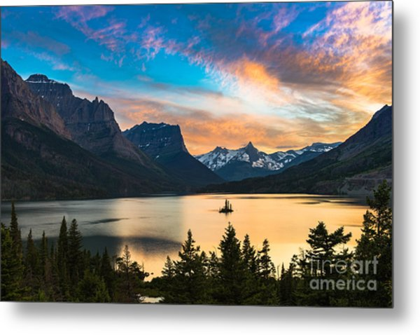 Beautiful Colorful Sunset Over St. Mary Metal Print
