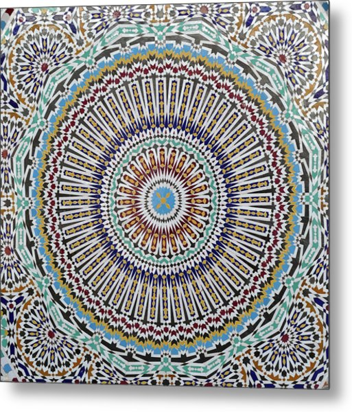 Beautiful Infinity Desgn Mosaic Fountain Metal Print