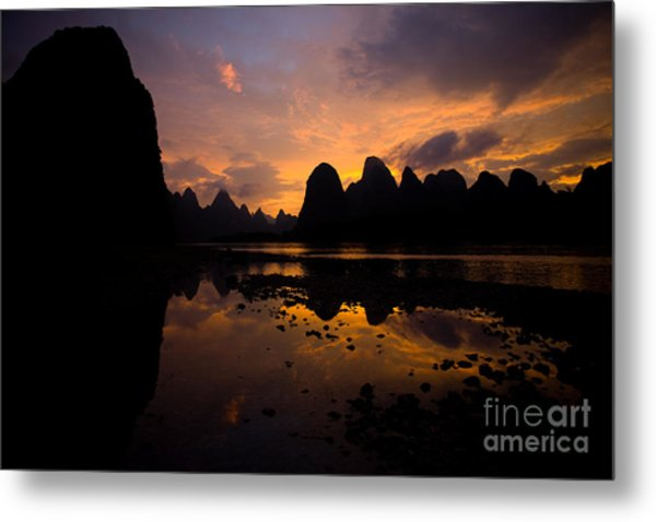 Beautiful Nature Scene Of A Motion Metal Print