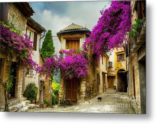 Beautiful Old Town Of Provence Metal Print