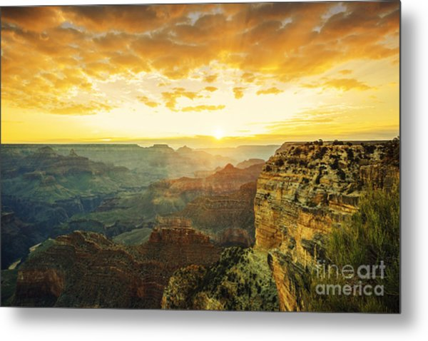 Beautiful Sunset At Monument Valley, Usa Metal Print