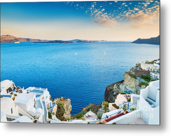 Beautiful View Of The Sea And Islands Metal Print