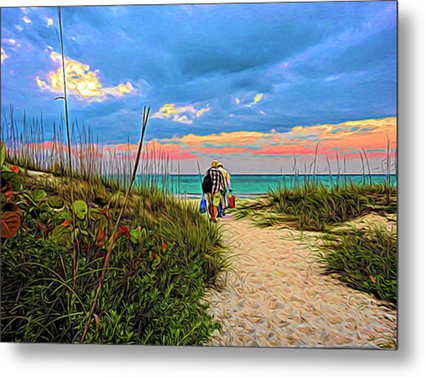 Beginning Of A Fishing Story Metal Print