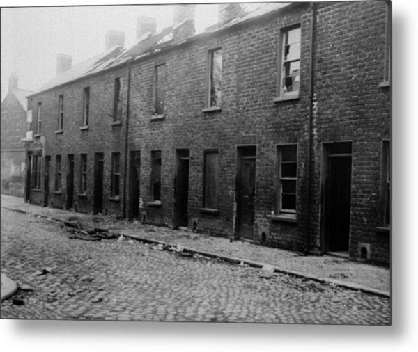 Belfast Slum Metal Print by Topical Press Agency
