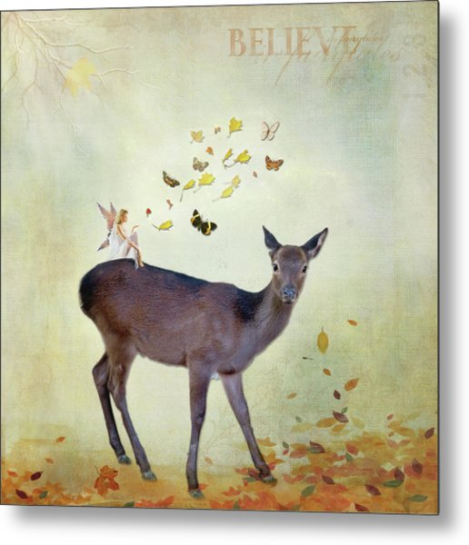 Metal Print featuring the digital art Believe by Sue Collura