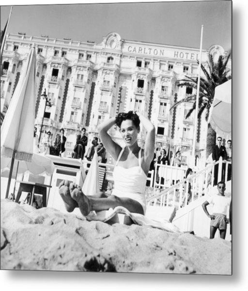Bella Darvi In Cannes Before The Metal Print
