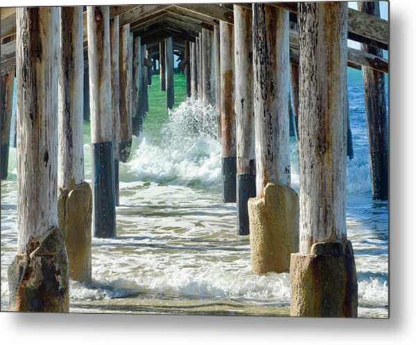 Below The Pier Metal Print