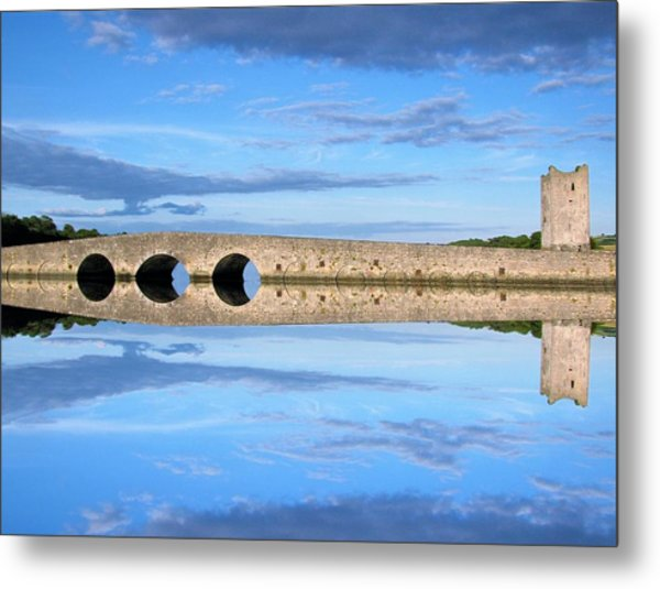 Belvelly Castle Reflection Metal Print