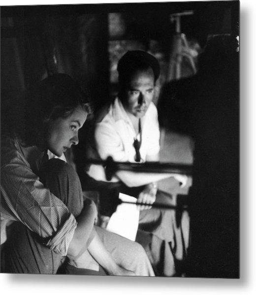 Bergman & Rossellini In Italy For Metal Print by Gordon Parks
