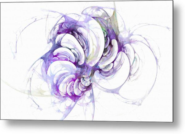 Beyond Abstraction Purple Metal Print