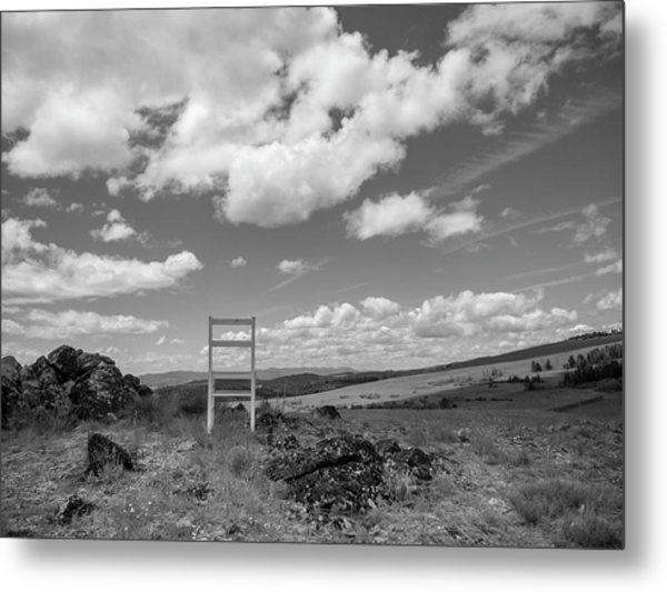 Beyond Here The Chair Project Metal Print