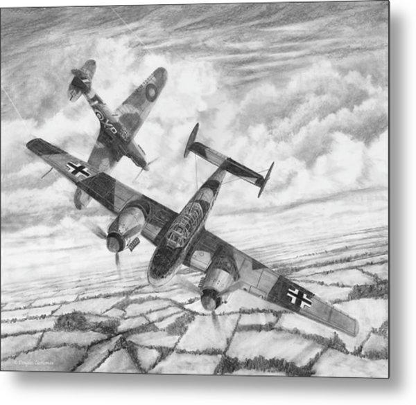 Bf-110c Zerstorer Metal Print