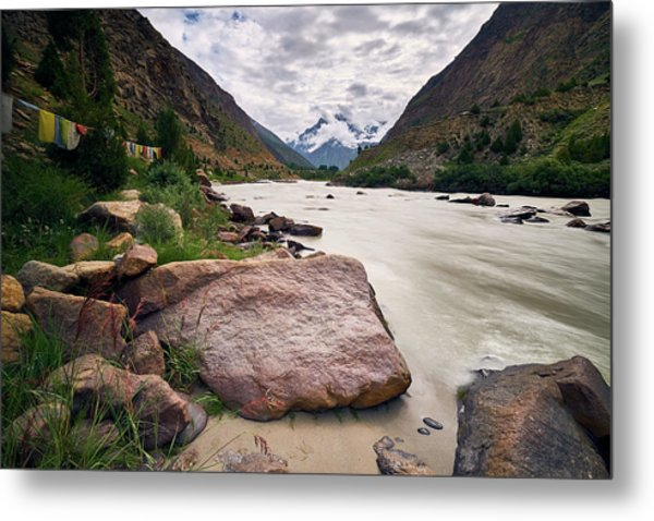 Metal Print featuring the photograph Bhag River by Whitney Goodey
