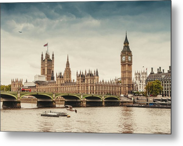 Big Ben And The Parliament In London Metal Print by Knape