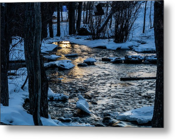 Big Hills Springs Under Snow And Ice, Big Hill Springs Provincia Metal Print