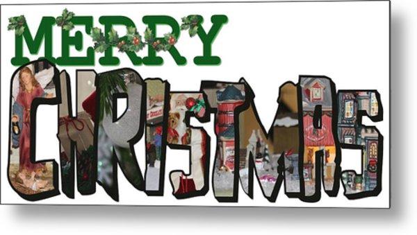 Big Letter Merry Christmas Metal Print