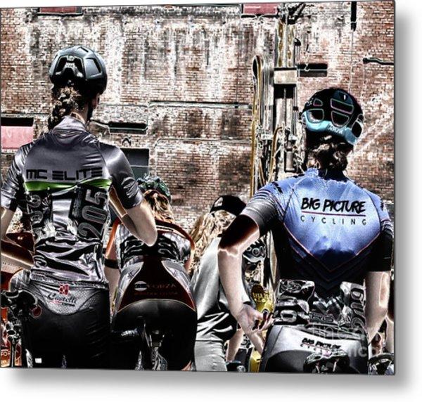 Cycling Big Metal Print by Steven Digman