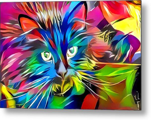 Big Whiskers Cat Metal Print