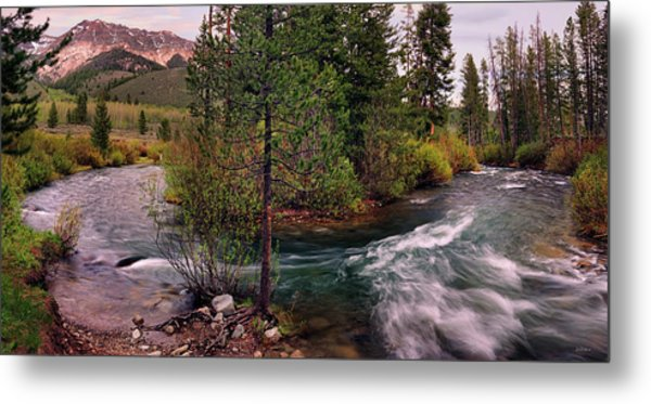 Big Wood River Curve 2 Metal Print by Leland D Howard
