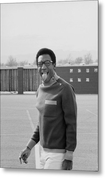 Bill Cosby Sticks His Tongue Out Metal Print by Michael Rougier