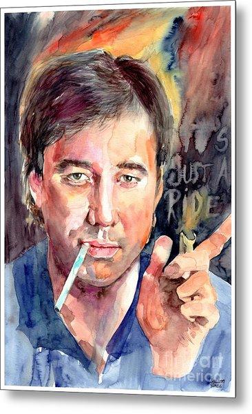 Bill Hicks Portrait Metal Print