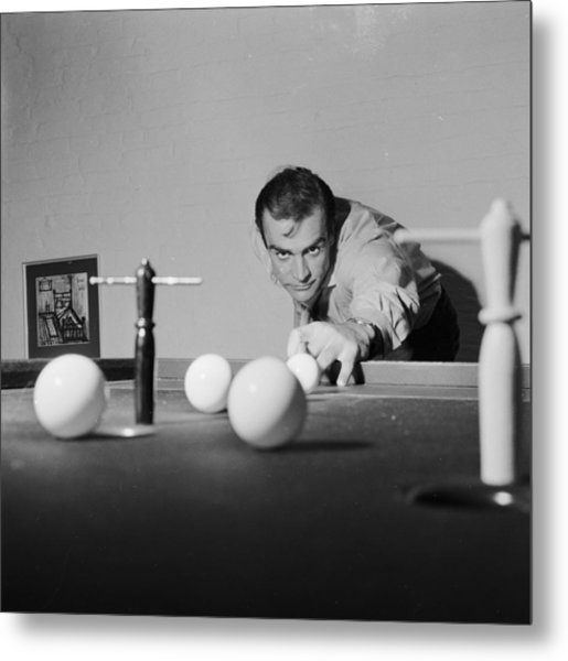 Billiard Bond Metal Print
