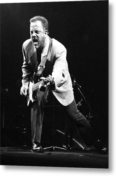 Billy Joel During A Performance At Metal Print