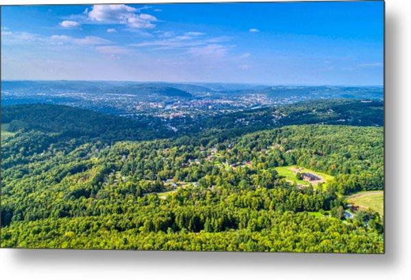 Binghamton Aerial View Metal Print