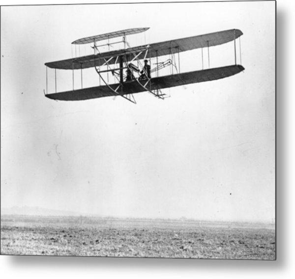Biplane By Wright Metal Print