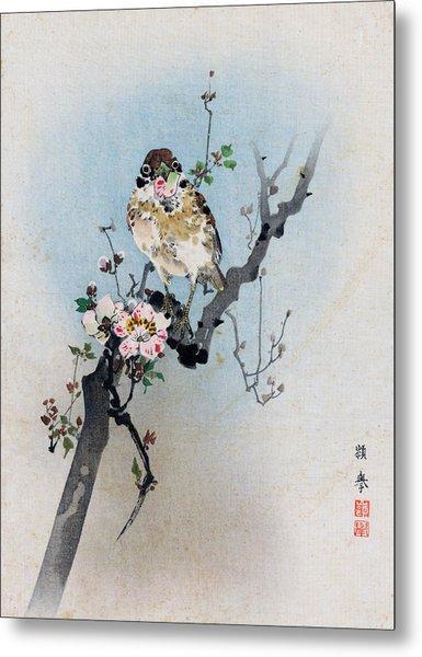 Bird And Petal Metal Print