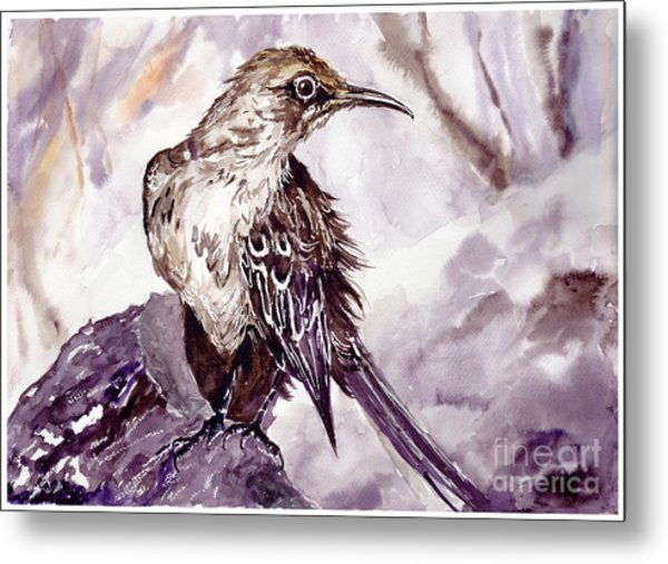 Bird On The Rock Metal Print
