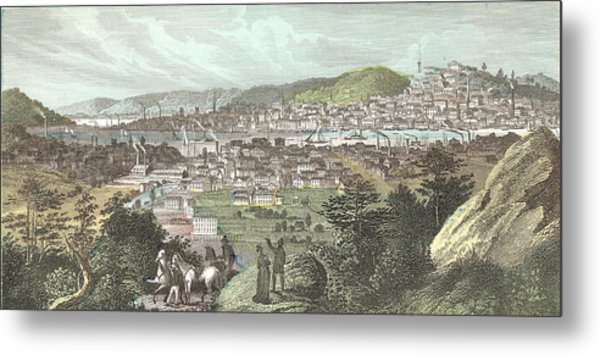 Birds Eye View Of Cincinnati Metal Print by Kean Collection