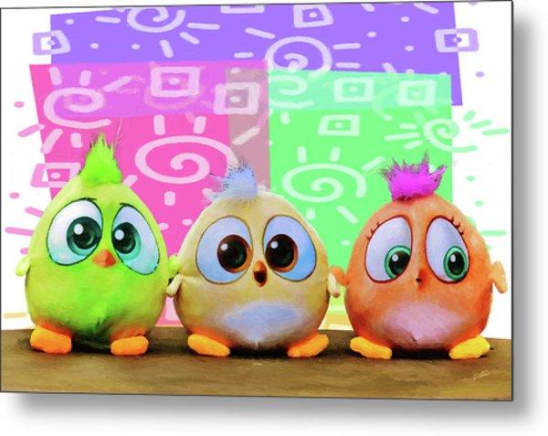 Birds In The Nursery Metal Print