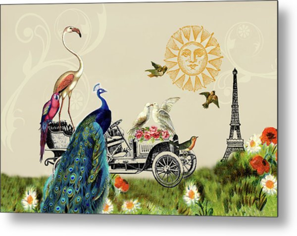 Birds Of A Feather In Paris, France Metal Print
