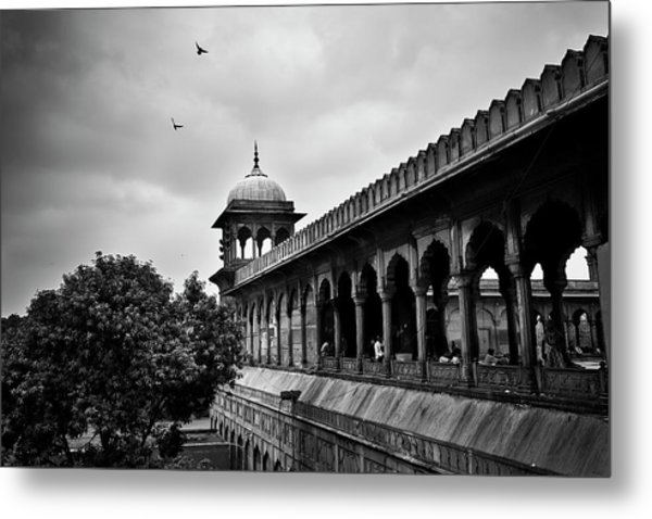 Metal Print featuring the photograph Birds Over The Jama Masjid by Whitney Goodey