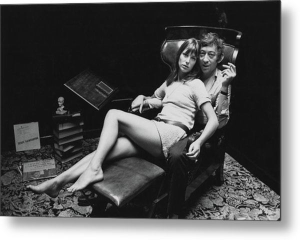 Birkin And Gainsbourg Metal Print by Reg Lancaster
