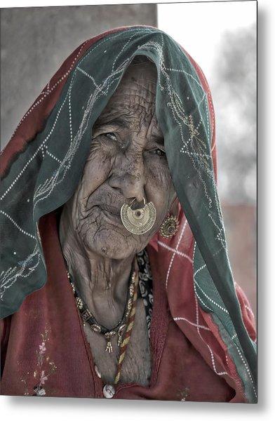 Bishnoi Woman Metal Print