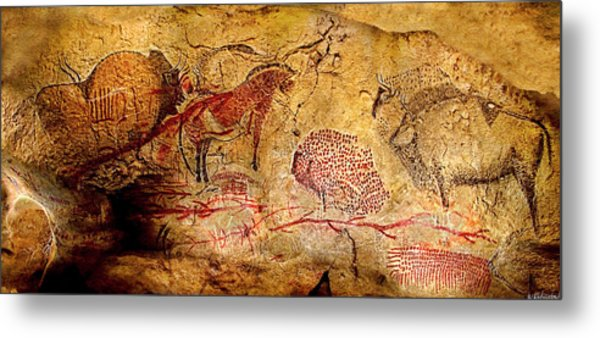 Bisons Horses And Other Animals Metal Print