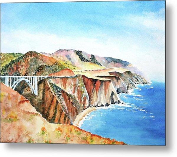 Bixby Bridge 3 Big Sur California Coast Metal Print